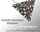 Peyote triangle pattern with instruction, peyote triangle instruction, triangle peyote pattern, native stitch, triangle peyote pendant #39
