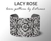 Bead Loom Pattern, Loom Tutorial, Beading Pattern, Loom Beading Pattern, Bracelet Tutorial, Bracelet Pattern, Loom Pattern - LACY ROSE