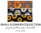 Peyote bracelet patterns, even peyote pattern, floral peyote patterns, native peyote pattern, bracelet tutorial SMALL FLOWERS COLLECTION