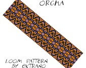 Oriental Loom Pattern - ORCHA - 3 colors, uneven  loom pattern