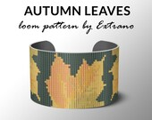 Bead Loom Pattern, Loom Tutorial, Beading Pattern, Loom Beading Pattern, Bracelet Tutorial, Bracelet Pattern, Loom Pattern - AUTUMN LEAVES