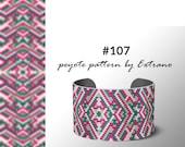 Peyote bracelet pattern, native peyote pattern, odd count, native american pattern, native stitch, pdf pattern, beaded bracelet #107