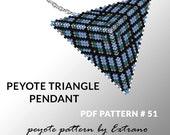 Peyote triangle pattern with instruction, peyote triangle instruction, triangle peyote pattern, native stitch, triangle peyote pendant #51