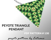 Triangle peyote pattern, peyote triangle pattern with instruction, peyote triangle how to, native stitch, red triangle peyote pendant #130