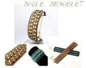 Bracelet tutorial, bracelet pattern, bugle bracelet, bugle tutorial, DIY jewelry, wide cuff pattern, beading tutorial, DHANBAD