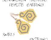 Beadwoven Treasure - Peyote Earrings - SWIRLS - Pattern ONLY without detailed instructions