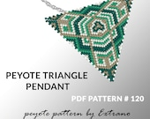 Triangle peyote pattern, peyote triangle pattern with instruction, peyote triangle how to, native stitch, red triangle peyote pendant #120