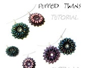 TUTORIAL - pendant, Swarovski rivoli - PUFFED TWINS - instant download