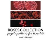 Peyote bracelet patterns, even peyote pattern, mosaic peyote pattern, native american peyote pattern, bracelet tutorial ROSES COLLECTION