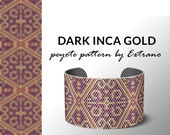 Beading pattern, pattern for bracelet, peyote pattern, peyote bracelet, bracelet pattern, peyote native, uneven peyote - INCA GOLD dark