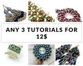 Bracelet tutorials, earrings tutorials, bulk discount, Buy ANY 3 TUTORIALS for 12 USD - Earrings, Bracelets, Peyote Patterns and more