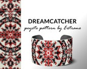 Peyote bracelet pattern, native peyote pattern, odd count, native american pattern, native stitch, pdf pattern, beaded bracelet DREAMCATCHER