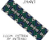 Bead Loom Pattern, Loom Tutorial, Beading Pattern, Loom Beading Pattern, Bracelet Tutorial, Bracelet Pattern, Loom Pattern - JANXI