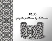 Peyote bracelet pattern, native peyote pattern, odd count, native american pattern, native stitch, pdf pattern, beaded bracelet #105