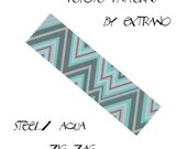 Peyote pattern, bracelet pattern, peyote bracelet, even peyote stitch pattern, delica pattern, 7 colors, instant download pdf - AQUA ZIG ZAC
