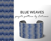 Beading pattern, pattern for bracelet, peyote pattern, peyote bracelet, bracelet pattern, peyote native, uneven peyote, nature BLUE WEAVES