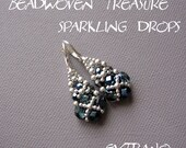 Long earrings tutorial, long earrings tutorial, beaded earrings tutorial, earrings pattern, dangle earrings tutorial - SPARKLING DROPS