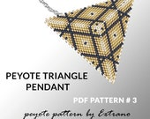 Peyote triangle pattern with instruction, native peyote pattern, native american pattern, native stitch, triangle peyote pendant #3