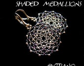 Round earrings tutorial, beaded earrings tutorial, seed beads earrings, beaded medallion, earrings pattern, lacy earrings, SHADED MEDALLIONS