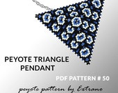 Peyote triangle pattern with instruction, peyote triangle instruction, triangle peyote pattern, native stitch, triangle peyote pendant #50