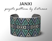 Peyote pattern bracelet, uneven pattern, even peyote stitch, peyote pattern, DIY jewelry - JANXI - 4 colors ONLY - Instant download