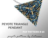 Triangle peyote pattern, peyote triangle pattern with instruction, peyote triangle how to, native stitch, triangle peyote pendant #65