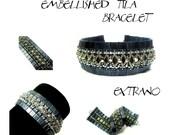 Bracelet tutorial, wide cuff pattern, bracelet pattern, Tila bracelet, Tila beads tutorial, DIY jewelry, beading tutorial - EMBELLISHED TILA