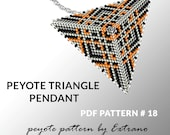 Peyote triangle pattern with instruction, peyote triangle instruction, triangle peyote pattern, native stitch, triangle peyote pendant #18