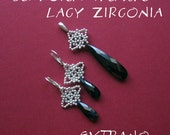 Beaded earrings tutorial, long earrings tutorial, long earrings pattern, earrings pattern, beaded cap for beads tutorial - LACY ZIRCONIA