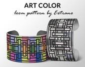 Bead Loom Pattern, Loom Tutorial, Beading Pattern, Loom Beading Pattern, Bracelet Tutorial, Bracelet Pattern, Loom Pattern - ART COLOR