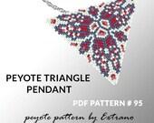 Peyote triangle pattern with instruction, native peyote pattern, native american pattern, native stitch, triangle peyote pendant #95