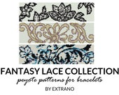 Peyote bracelet patterns, even peyote pattern, abstract peyote pattern, native american peyote pattern, pdf tutorial FANTASY LACE COLLECTION