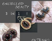 Brick stitch earrings tutorial, beaded earrings tutorial, seed beads earrings tutorial, earrings pattern, round earrings - ENCIRCLED BEAUTY