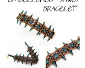 Bracelet tutorial, spike beads pattern, bracelet pattern, spike beads, choker tutorial, DIY jewelry, beading tutorial - EMBELLISHED SPIKES