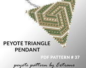 Peyote triangle pattern with instruction, peyote triangle instruction, triangle peyote pattern, native stitch, triangle peyote pendant #37