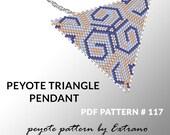 Peyote triangle pattern with instruction, native peyote pattern, native american pattern, native stitch, triangle peyote pendant #117