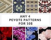 Peyote pattern, bracelet pattern, peyote bracelet, even peyote, uneven peyote, bulk discount - SAVE  - Pick Any 4 Peyote Patterns for 10.00