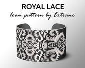 Bead Loom Pattern, Loom Tutorial, Beading Pattern, Loom Beading Pattern, Bracelet Tutorial, Bracelet Pattern, Loom Pattern - ROYAL LACE