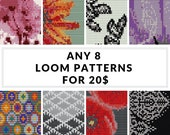 Loom pattern, bracelet pattern, loom bracelet,DIY jewelry, DIY, beading patterns, bulk discount - SAVE  - Pick Any 8 Patterns for 20.00 usd