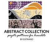 Peyote bracelet patterns, even peyote pattern, abstract peyote pattern, native american peyote pattern bracelet tutorial ABSTRACT COLLECTION