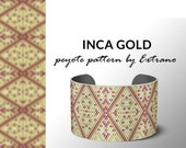 Beading pattern, pattern for bracelet, peyote pattern, peyote bracelet, bracelet pattern, peyote native, uneven peyote - INCA GOLD pattern