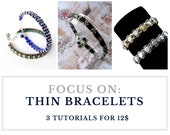Thin bracelets tutorials, jewelry patterns - Set of tutorials with wholesale discount - buy 3 TUTORIALS for BRACELETS and save!
