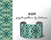 Beading pattern, pattern for bracelet, peyote pattern, peyote bracelet, bracelet pattern, peyote native, uneven peyote - #109