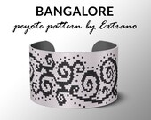 Bracelet peyote pattern, peyote bracelet, even peyote stitch pattern, delica pattern, 7 colors, instant download PDF -  BANGALORE