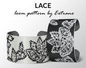 Bead Loom Pattern, Loom Tutorial, Beading Pattern, Loom Beading Pattern, Bracelet Tutorial, Bracelet Pattern, Loom Pattern, 4 colors -  LACE