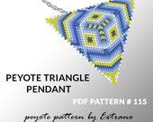 Peyote triangle pattern with instruction, native peyote pattern, native american pattern, native stitch, triangle peyote pendant #115