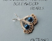 Beaded earrings tutorial, fan shaped earrings, diy jewelry, Bollywood earrings tutorial, PDF pattern - BOLLYWOOD PEARLS  - instant download