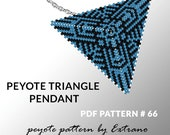 Triangle peyote pattern, peyote triangle pattern with instruction, peyote triangle how to, native stitch, triangle peyote pendant #66