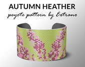 Peyote bracelet patterns, even peyote stitch, bracelet peyote pattern, DIY jewelry - AUTUMN HEATHER, 6 colors, Instant download