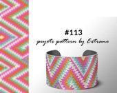 Peyote bracelet pattern, peyote pattern for wide bracelet, wide cuff pattern, uneven peyote stitch, peyote stitch  jewelry #113